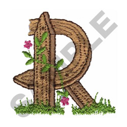 FLORAL FENCE POST - R embroidery design
