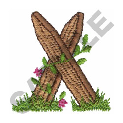 FLORAL FENCE POST - X embroidery design