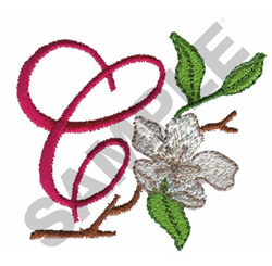 FLORAL C embroidery design