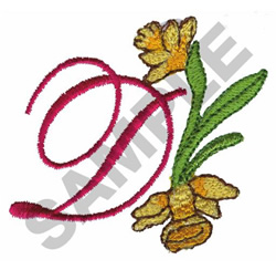 FLORAL D embroidery design