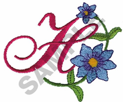 FLORAL H embroidery design