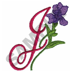 FLORAL J embroidery design