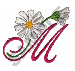 FLORAL M embroidery design