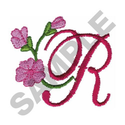FLORAL R embroidery design