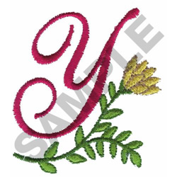 FLORAL X embroidery design