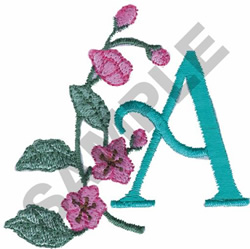 FLOWER LETTER  A embroidery design