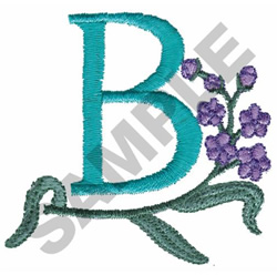 FLOWER LETTER  B embroidery design