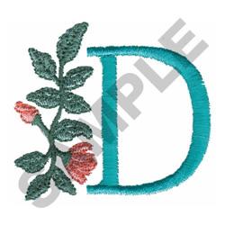 FLOWER LETTER  D embroidery design