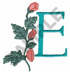 FLOWER LETTER  E embroidery design