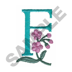 FLOWER LETTER  F embroidery design