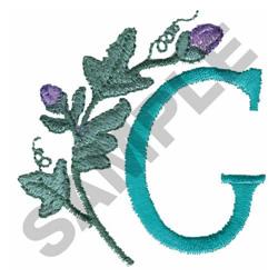FLOWER LETTER  G embroidery design