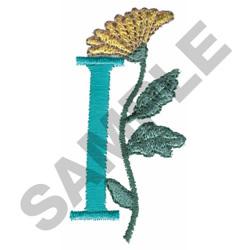FLOWER LETTER  I embroidery design