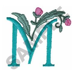 FLOWER LETTER  M embroidery design