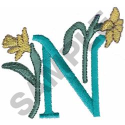 FLOWER LETTER  N embroidery design