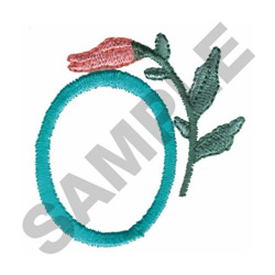 FLOWER LETTER  O embroidery design