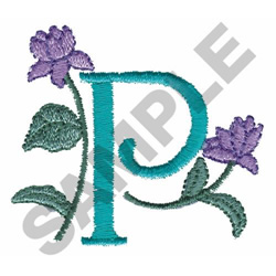 FLOWER LETTER  P embroidery design
