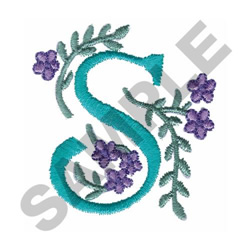 FLOWER LETTER  S embroidery design