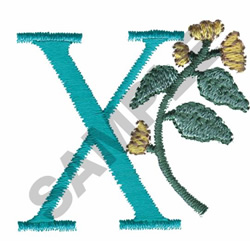 FLOWER LETTER  X embroidery design
