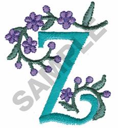 FLOWER LETTER  Z embroidery design