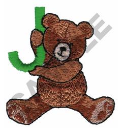 TEDDY BEAR J embroidery design