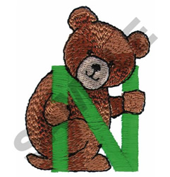 TEDDY BEAR N embroidery design