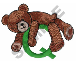 TEDDY BEAR Q embroidery design