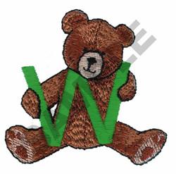 TEDDY BEAR W embroidery design