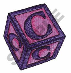 TOY BLOCKS C embroidery design