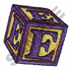 TOY BLOCKS E embroidery design
