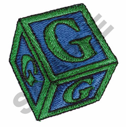 TOY BLOCKS G embroidery design