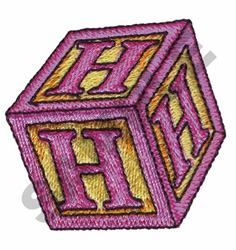 TOY BLOCKS H embroidery design