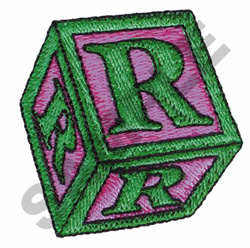 TOY BLOCKS R embroidery design