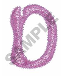 BUBBLE GUM D embroidery design