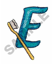 BATHTIME E embroidery design