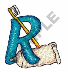 BATHTIME R embroidery design