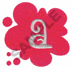 FUNKY A embroidery design
