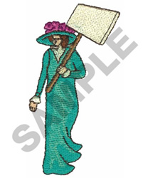 VICTORIAN WOMAN embroidery design