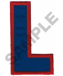 L APPLIQUE embroidery design