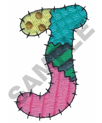 J embroidery design