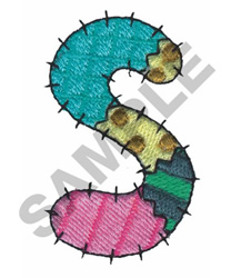 S embroidery design