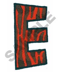 E embroidery design