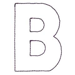 APPLIQUE B embroidery design