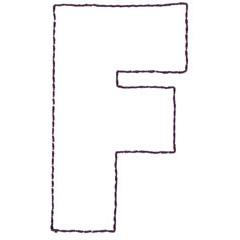 APPLIQUE F embroidery design