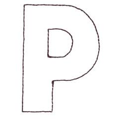 APPLIQUE P embroidery design