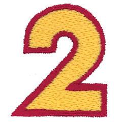 2 Color Alphabet 2 embroidery design