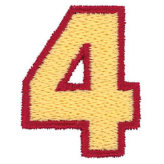 2 Color Alphabet 4 embroidery design