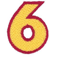 2 Color Alphabet 6 embroidery design
