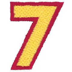 2 Color Alphabet 7 embroidery design