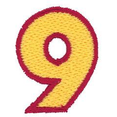 2 Color Alphabet 9 embroidery design