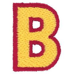 2 Color Alphabet B embroidery design